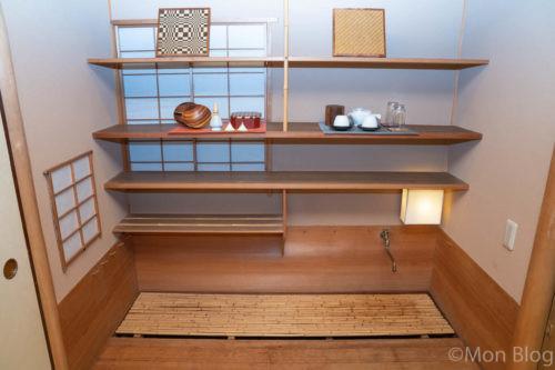 せせらぎ縁台付き和室の水屋