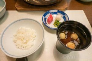 白飯と止め椀と香の物